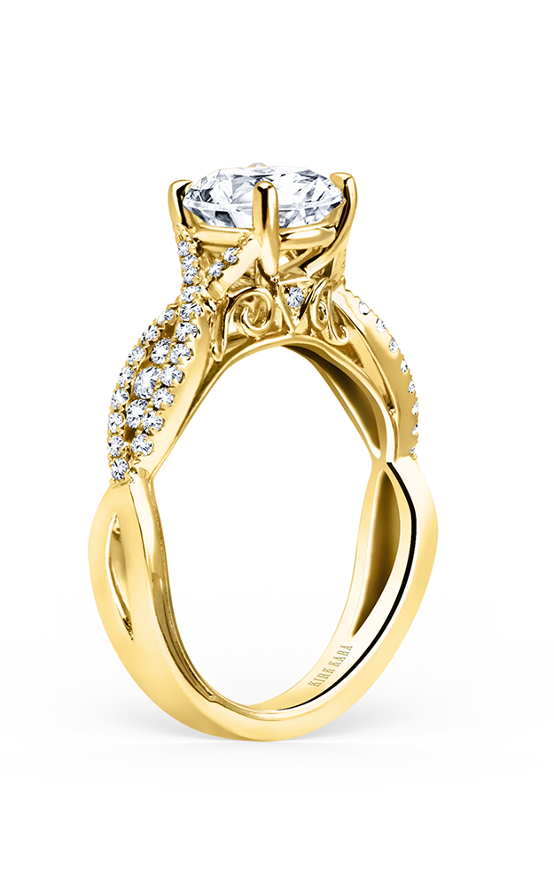 Kirk Kara Pirouetta - 18k yellow gold 0.31ctw Diamond Engagement Ring, K199RY product image