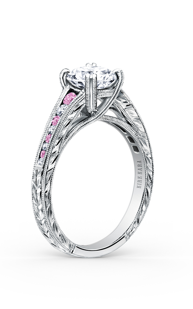 Kirk Kara Stella - 18k white gold 0.08ctw Diamond Engagement Ring, K1140VDC-R product image