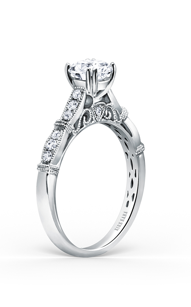 Kirk Kara Stella - 18k white gold 0.22ctw Diamond Engagement Ring, K196R product image