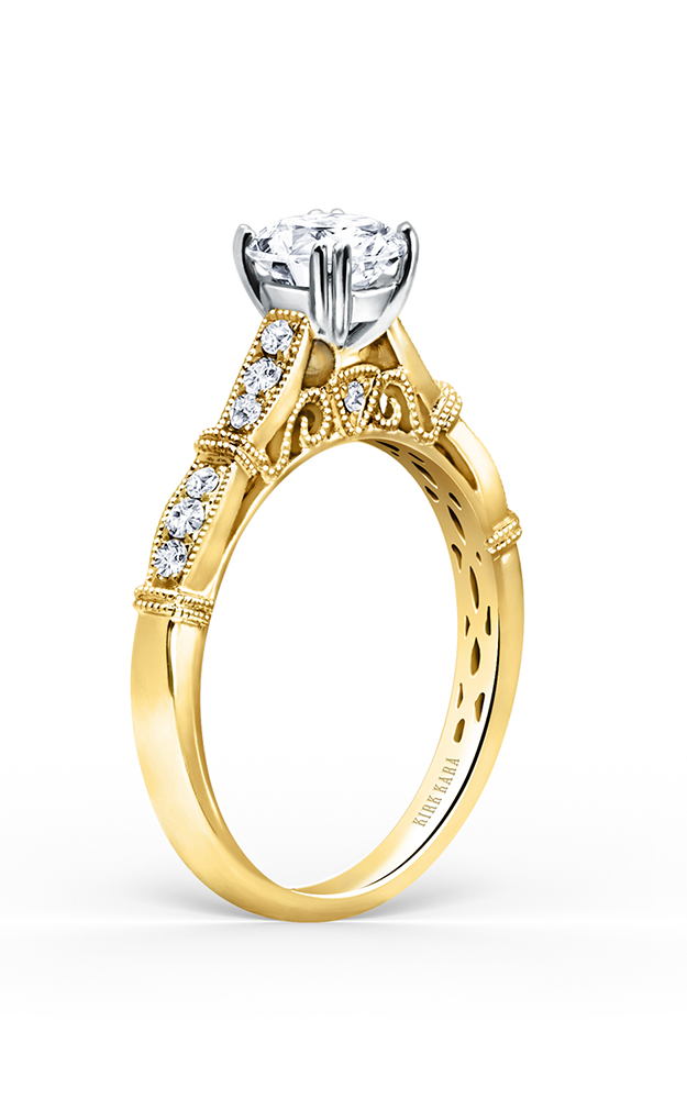 Kirk Kara Stella - 18k yellow gold 0.22ctw Diamond Engagement Ring, K196RY product image