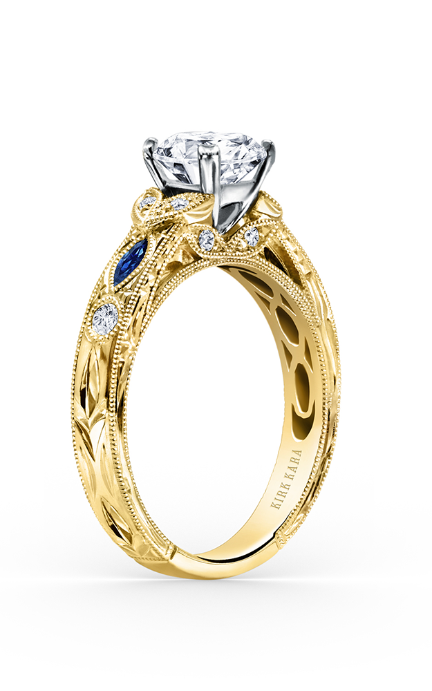 Kirk Kara Dahlia - 18k yellow gold 0.12ctw Diamond Engagement Ring, K1120SDCY-R product image