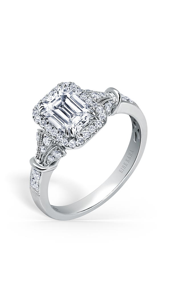 Kirk Kara Lori - Platinum 0.32ctw Diamond Engagement Ring, K195E7X5L product image
