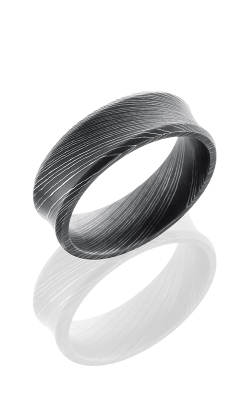 Lashbrook Damascus Steel Wedding Band D7CB ACID product image