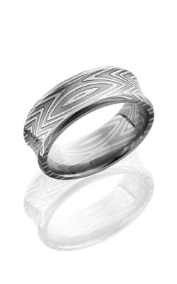 Lashbrook Damascus Steel Wedding Band D8CBZEBRA POLISH product image