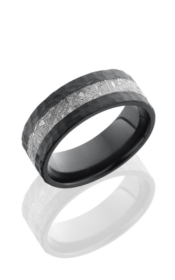 Lashbrook Meteorite Wedding Band Z8F13-METEORITE HAMMER product image
