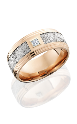 Lashbrook Meteorite Wedding Band 14KR9F2S14 5SEG METDIAPRN product image