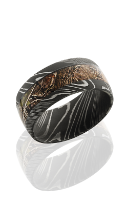 Lashbrook Damascus Steel Wedding Band D10D15 KINGSWOODLAND ACID product image