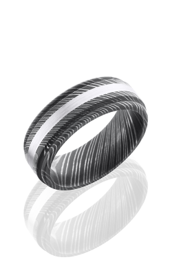 Lashbrook Damascus Steel Wedding Band D8REF12 SS SATIN ACID product image