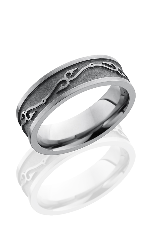 Lashbrook Titanium Wedding band 7FFISHHOOKS1 product image