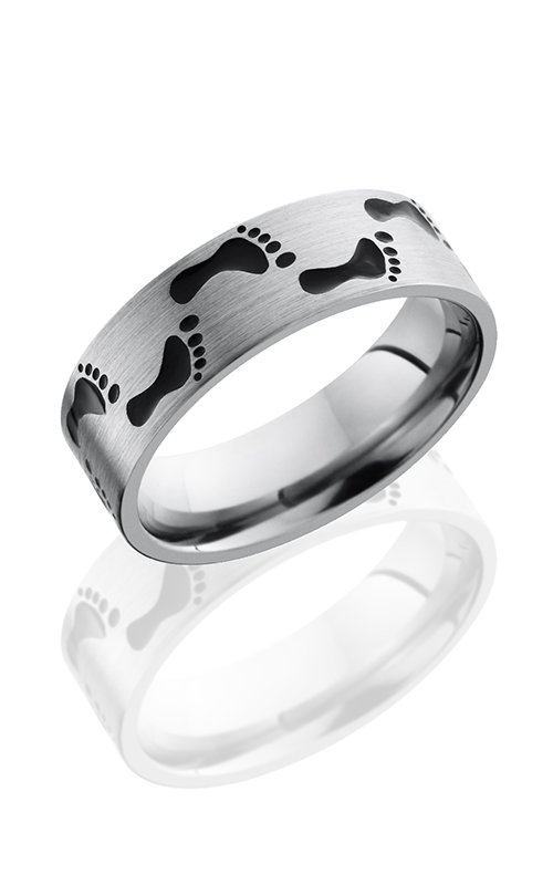 Lashbrook Titanium Wedding band 7FFOOTPRINTA product image