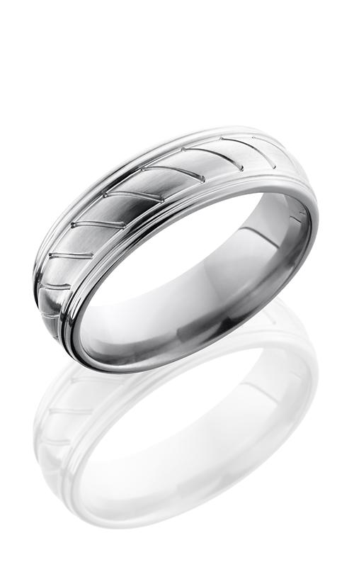 Lashbrook Titanium Wedding band 7REDDR0STRIPES product image