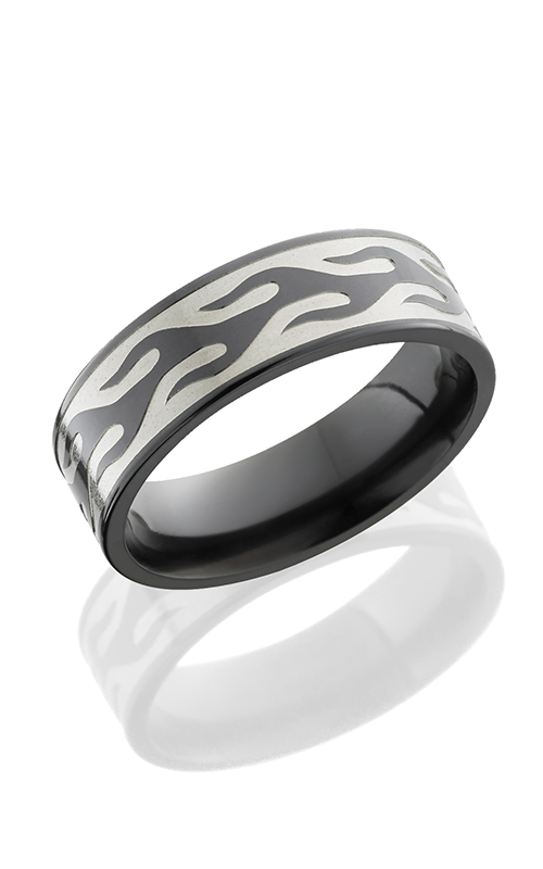 Lashbrook Zirconium Wedding band Z7F CONTOURFLAME POLISH product image
