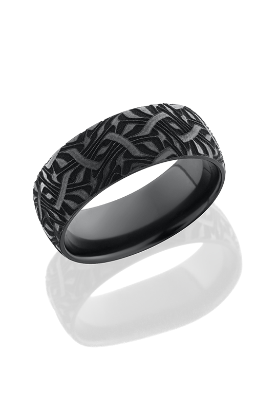 Lashbrook Zirconium Wedding band Z8DBLCVESCHER2 POLISH product image