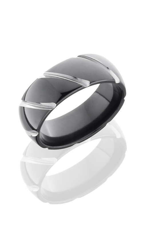Lashbrook Zirconium Wedding band Z8DSTRIPE product image