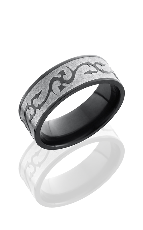 Lashbrook Zirconium Wedding band Z8F-THORNS BEAD-POLISH product image