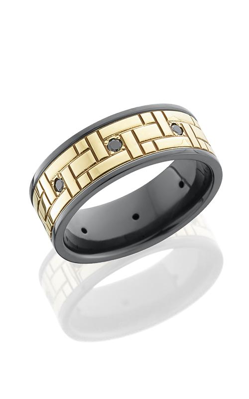 Lashbrook Zirconium Wedding band Z8F16VERS14KYBLKDIA04X8P product image
