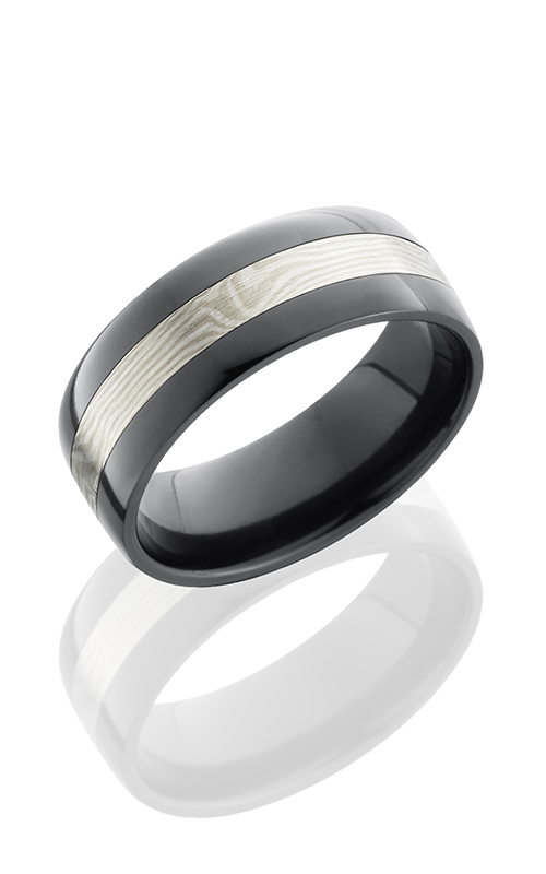 Lashbrook Zirconium Wedding band Z8F13-MSSPD BEAD-POLISH product image