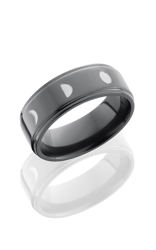 Lashbrook Zirconium Wedding band Z8FGE-MOONPHASE POLISH product image