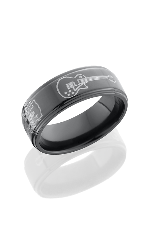 Lashbrook Zirconium Wedding band Z8FGEGUITAR POLISH product image