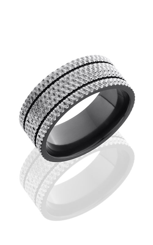 Lashbrook Zirconium Wedding band Z9F-2.5KNURL POLISH product image