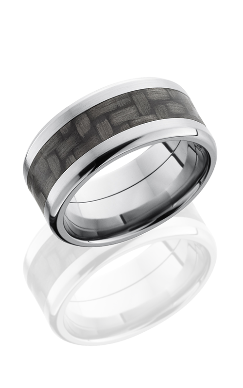 Lashbrook Carbon Fiber Wedding band C10B15 CF NS POLISH product image