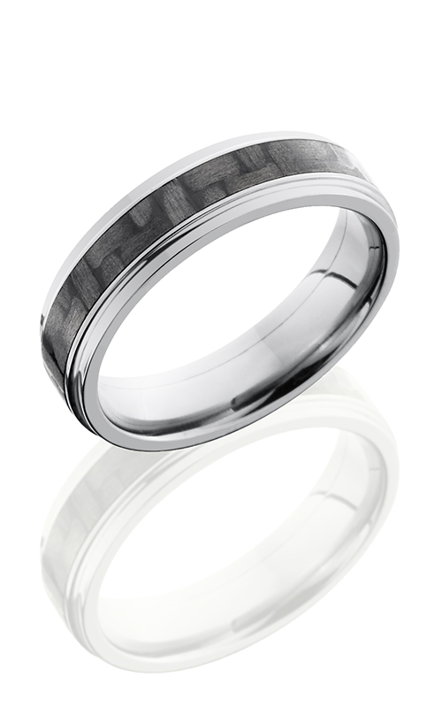 Lashbrook Carbon Fiber Wedding band C6FGE13 CF POLISH product image