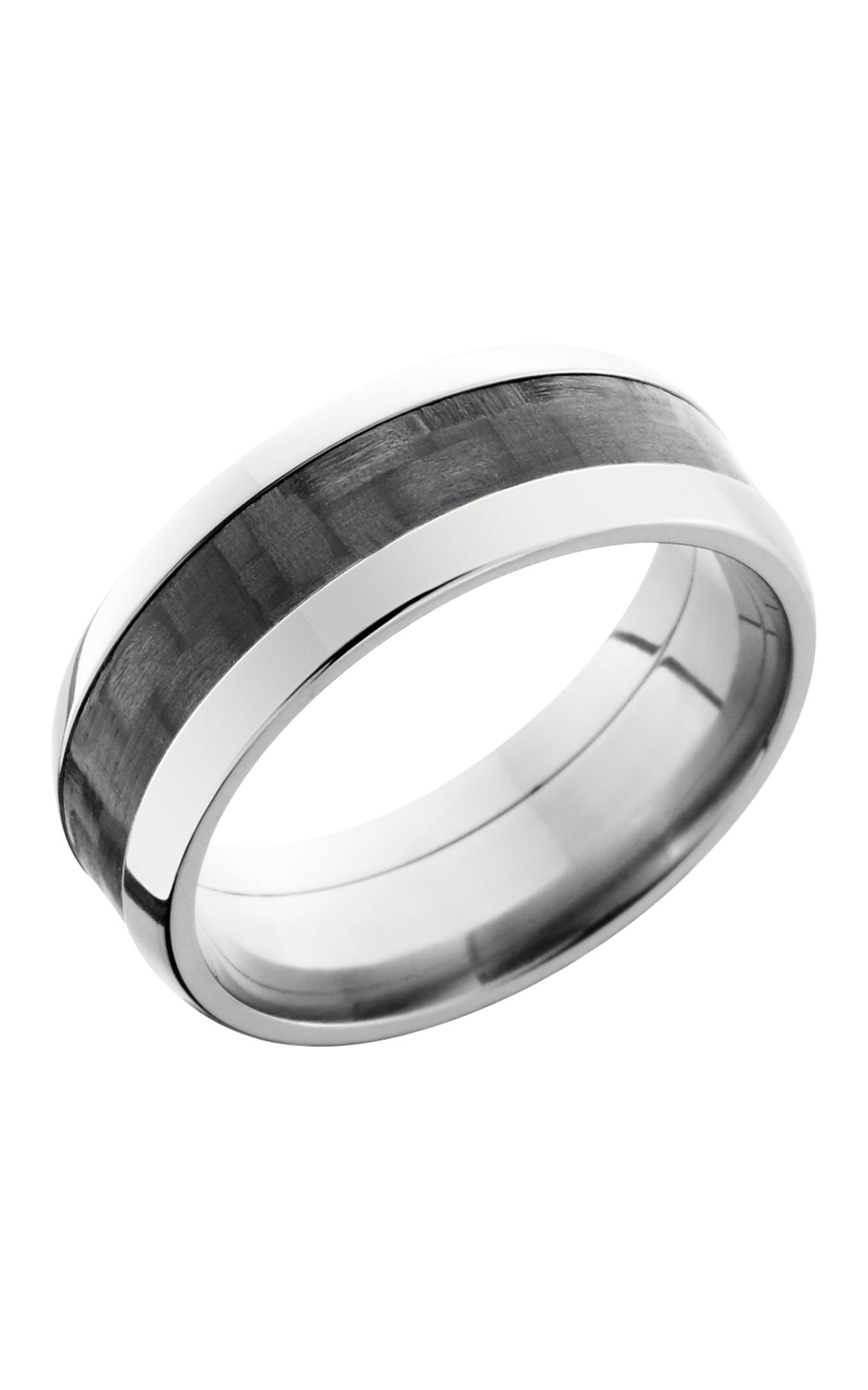 Lashbrook Carbon Fiber Wedding band C8D14 CF POLISH product image