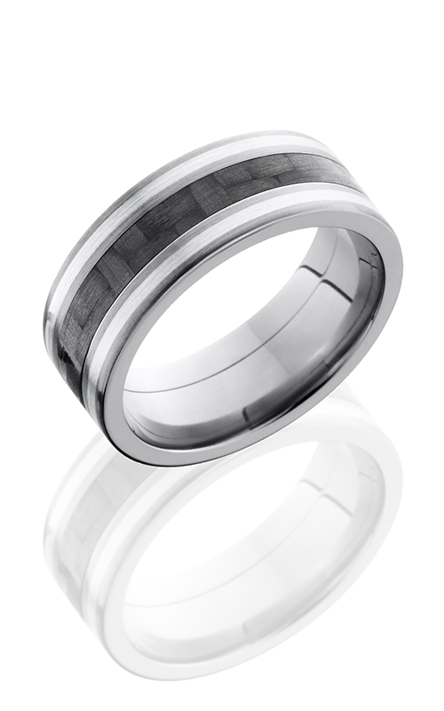Lashbrook Carbon Fiber Wedding band C8F1321 CFSS SATIN product image