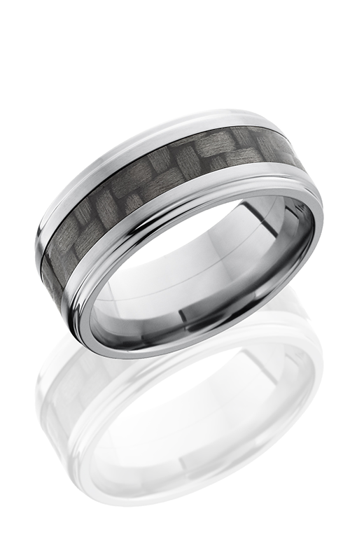 Lashbrook Carbon Fiber Wedding band C9FGE14 CF POLISH product image