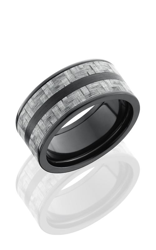 Lashbrook Carbon Fiber Wedding band ZC10F23 SILVERCF SATIN POLISH product image