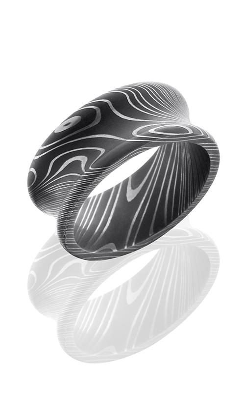 Lashbrook Damascus Steel Wedding band D10CR ACID product image