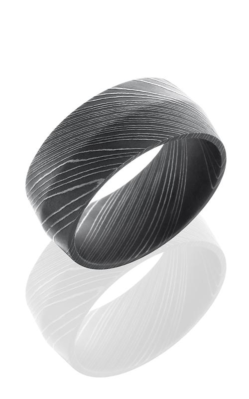 Lashbrook Damascus Steel Wedding band D10P ACID product image