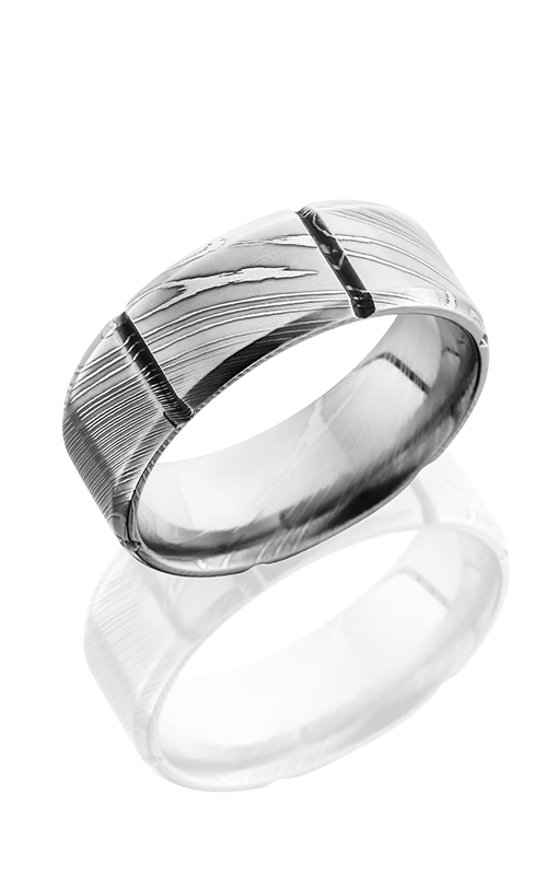Lashbrook Damascus Steel Wedding band D8B6SEG POLISH product image
