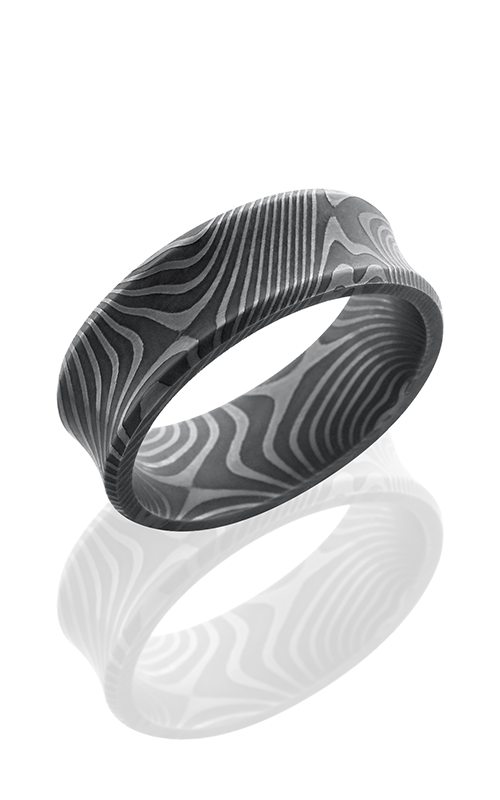 Lashbrook Damascus Steel Wedding band D8CBFLATTWIST product image