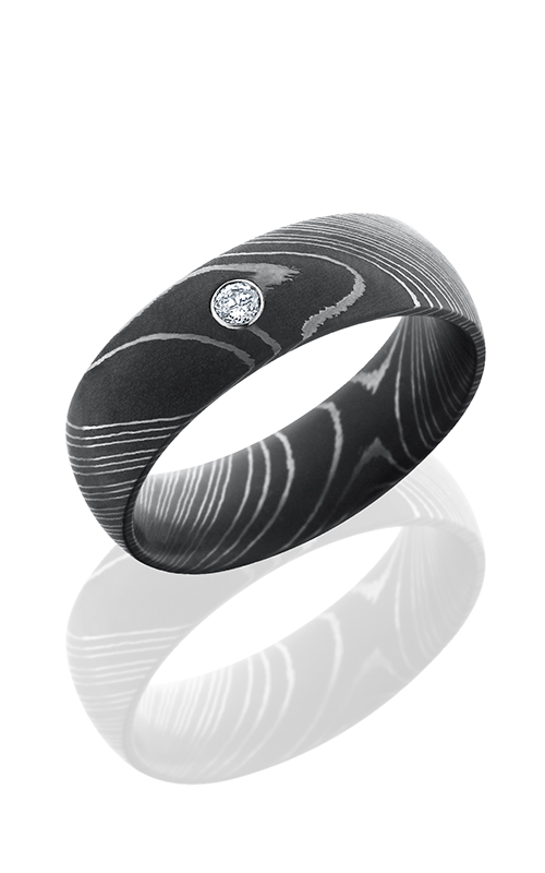 Lashbrook Damascus Steel Wedding band D8DDIA.05B ACID product image