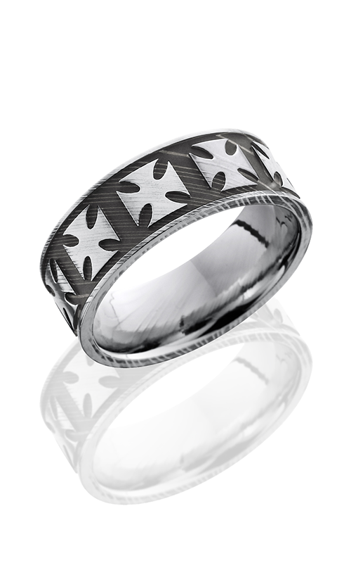 Lashbrook Damascus Steel Wedding band D8FMALTESE ACID-POLISH product image