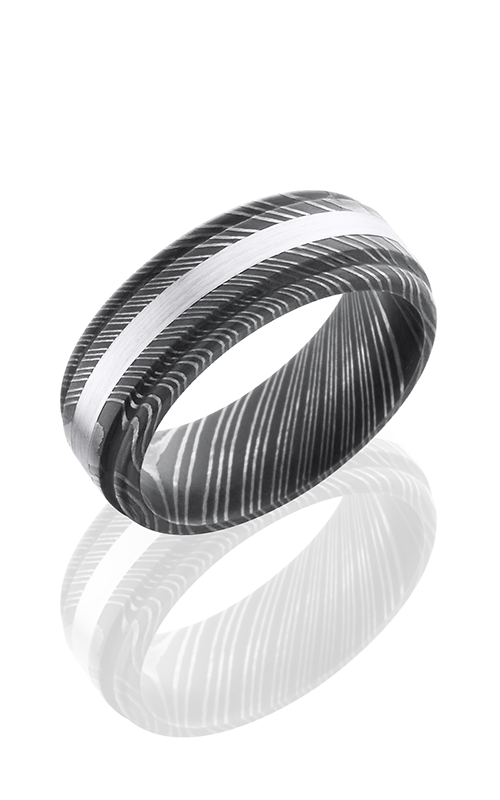 Lashbrook Damascus Steel Wedding band D8RED12-14KW ACID product image