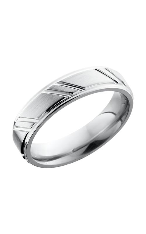Lashbrook Cobalt Chrome Wedding band CC5FGESTRIPES SATIN-POLISH product image