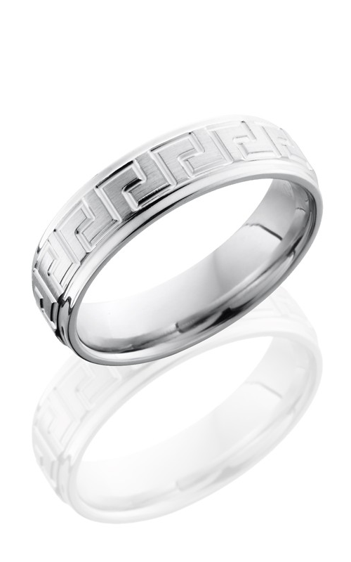Lashbrook Cobalt Chrome Wedding band CC6FGEL SATIN-POLISH product image