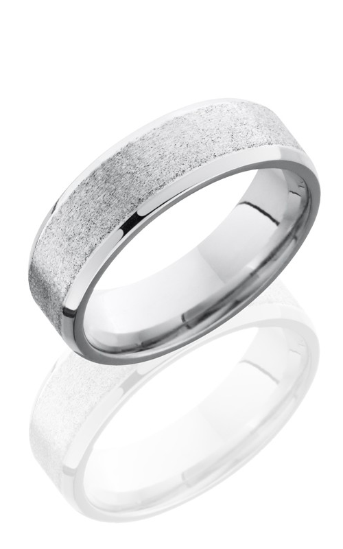 Lashbrook Cobalt Chrome Wedding band CC7B STONE-POLISH product image