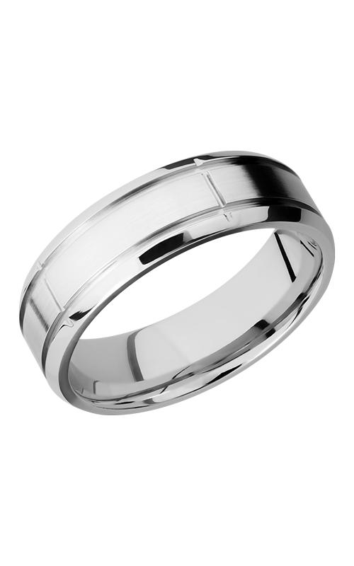 Lashbrook Cobalt Chrome Wedding band CC7B5SEG2.75 SATIN-POLISH product image