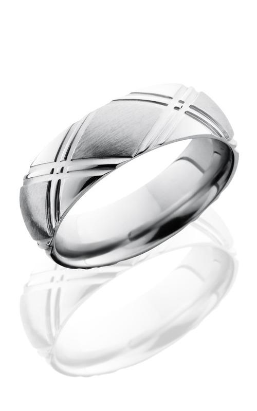 Lashbrook Cobalt Chrome Wedding band CC7DDOUBLEX SATIN-POLISH product image