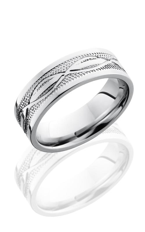 Lashbrook Cobalt Chrome Wedding band CC7F4.5INFKNURL POLISH product image