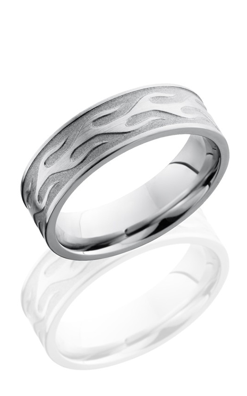 Lashbrook Cobalt Chrome Wedding band CC7FCONTOURFLAME SAND-SATIN product image