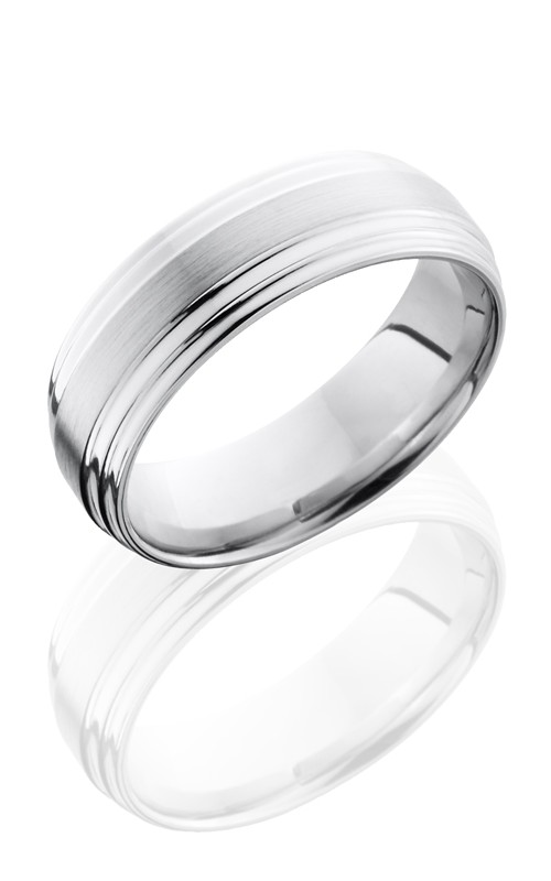 Lashbrook Cobalt Chrome Wedding band CC7FGG SATIN-POLISH product image