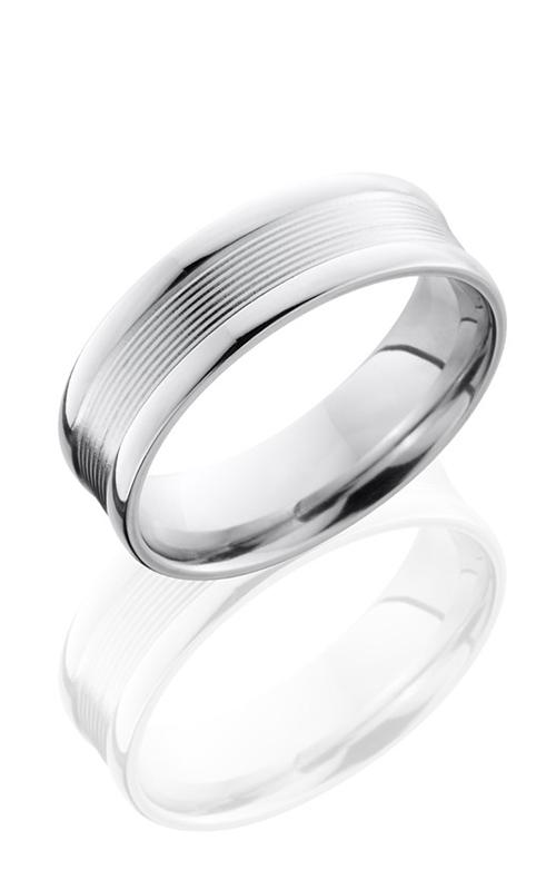 Lashbrook Cobalt Chrome Wedding band CC7FRG8 POLISH product image