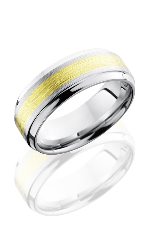 Lashbrook Cobalt Chrome Wedding band CC8B13-18KG SATIN-POLISH product image