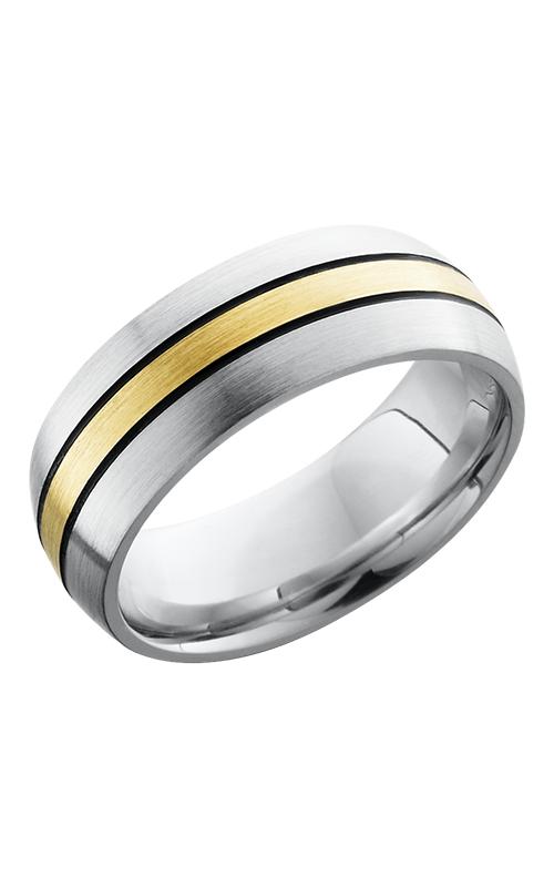 Lashbrook Cobalt Chrome Wedding band CC8D12-14KYMGA SATIN product image