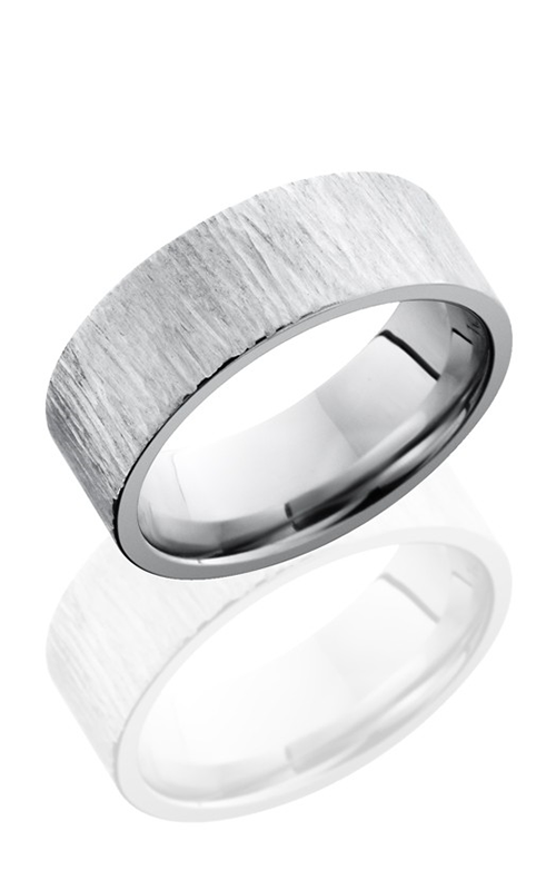 Lashbrook Cobalt Chrome Wedding band CC8F TREEBARK 1 product image