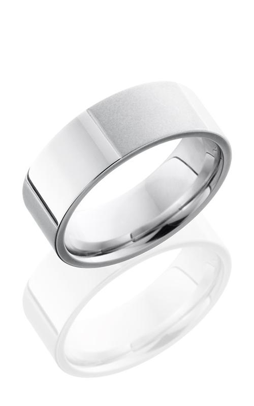 Lashbrook Cobalt Chrome Wedding band CC8F6SCORED BEAD-POLISH product image